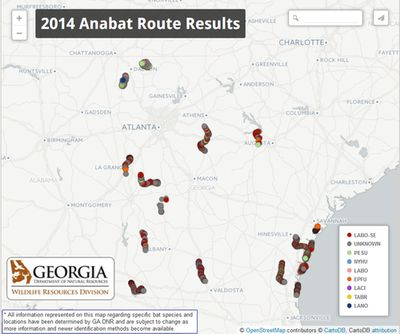 2014 Anabat route results