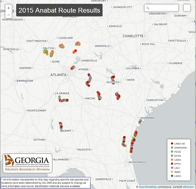 2015 Anabat route results